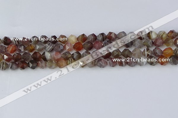 CAA1007 15.5 inches 6mm faceted nuggets botswana agate beads