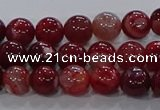 CAA1051 15.5 inches 6mm round dragon veins agate beads wholesale