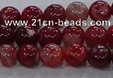 CAA1052 15.5 inches 8mm round dragon veins agate beads wholesale