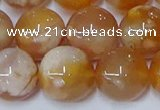 CAA1075 15.5 inches 14mm round sakura agate gemstone beads