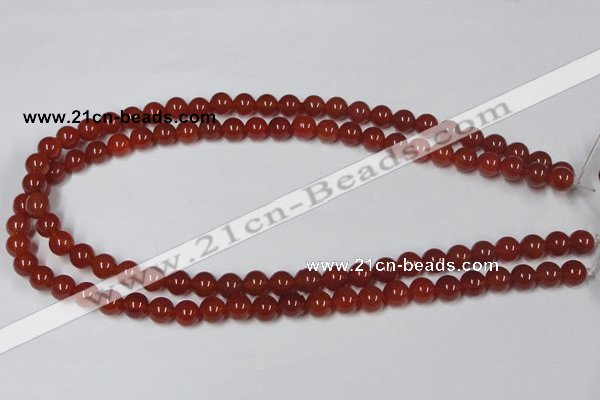CAA111 15.5 inches 8mm round red agate gemstone beads wholesale