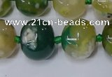 CAA1110 15.5 inches 15*18mm rondelle sakura agate gemstone beads