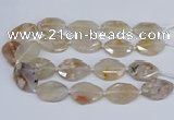 CAA1122 15.5 inches 22*30mm - 25*35mm faceted freeform sakura agate beads