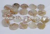 CAA1127 15.5 inches 25*35mm - 35*45mm freeform sakura agate beads