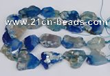 CAA1128 15.5 inches 25*35mm - 35*45mm freeform sakura agate beads