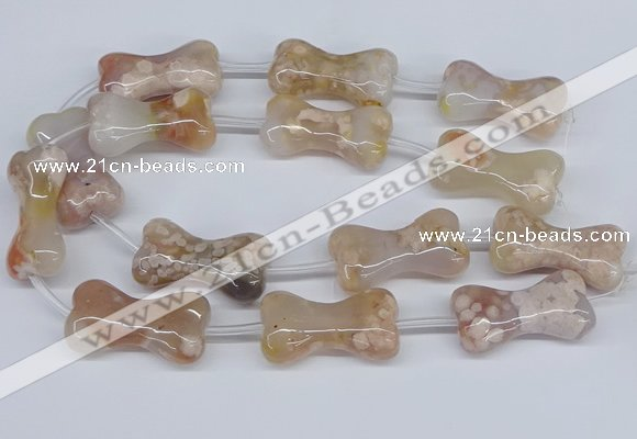 CAA1192 15.5 inches 22*40mm - 25*45mm bone sakura agate beads