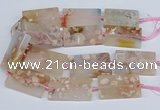 CAA1201 15.5 inches 30*50mm rectangle sakura agate beads