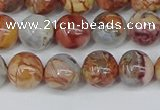 CAA1222 15.5 inches 8mm round gold mountain agate beads