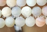 CAA1271 15.5 inches 6mm round matte plated druzy agate beads