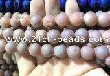 CAA1373 15.5 inches 16mm round matte plated druzy agate beads
