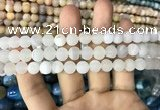 CAA1400 15.5 inches 8mm round matte druzy agate beads