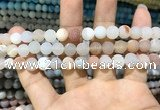 CAA1401 15.5 inches 8mm round matte druzy agate beads