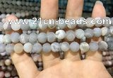 CAA1402 15.5 inches 8mm round matte druzy agate beads