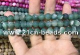 CAA1409 15.5 inches 8mm round matte druzy agate beads