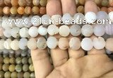 CAA1416 15.5 inches 10mm round matte druzy agate beads