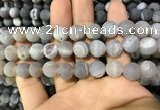 CAA1432 15.5 inches 12mm round matte druzy agate beads