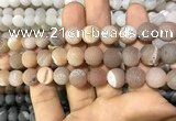 CAA1433 15.5 inches 12mm round matte druzy agate beads