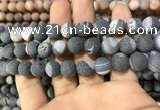 CAA1440 15.5 inches 12mm round matte druzy agate beads