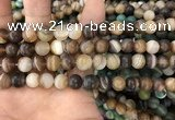 CAA1477 15.5 inches 10mm round matte banded agate beads wholesale