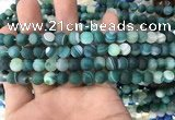 CAA1510 15.5 inches 6mm round matte banded agate beads wholesale