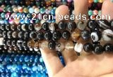 CAA1538 15.5 inches 8mm round banded agate beads wholesale