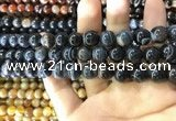 CAA1545 15.5 inches 10mm round banded agate beads wholesale