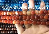 CAA1568 15.5 inches 8mm round banded agate beads wholesale
