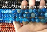 CAA1574 15.5 inches 8mm round banded agate beads wholesale