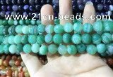 CAA1598 15.5 inches 8mm round banded agate beads wholesale