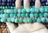 CAA1599 15.5 inches 10mm round banded agate beads wholesale