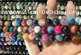 CAA1604 15.5 inches 8mm round banded agate beads wholesale