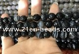 CAA1643 15.5 inches 12mm faceted round banded agate beads