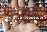 CAA1661 15.5 inches 8mm faceted round banded agate beads