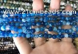 CAA1665 15.5 inches 6mm faceted round banded agate beads