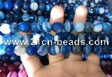 CAA1668 15.5 inches 12mm faceted round banded agate beads