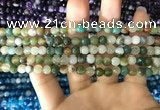 CAA1670 15.5 inches 6mm faceted round banded agate beads