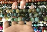 CAA1672 15.5 inches 10mm faceted round banded agate beads