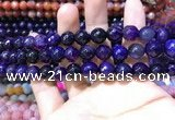 CAA1732 15 inches 10mm faceted round fire crackle agate beads