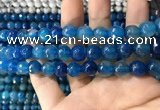 CAA1738 15 inches 10mm faceted round fire crackle agate beads