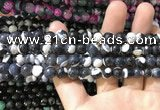 CAA1760 15 inches 8mm faceted round fire crackle agate beads