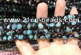 CAA1765 15 inches 8mm faceted round fire crackle agate beads