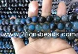 CAA1790 15 inches 10mm faceted round fire crackle agate beads