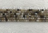 CAA1810 15.5 inches 4mm round banded agate gemstone beads