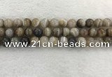 CAA1814 15.5 inches 12mm round banded agate gemstone beads