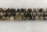 CAA1824 15.5 inches 12mm round banded agate gemstone beads