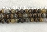 CAA1826 15.5 inches 16mm round banded agate gemstone beads