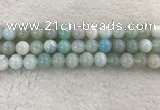 CAA1845 15.5 inches 14mm round banded agate gemstone beads