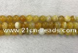 CAA1854 15.5 inches 12mm round banded agate gemstone beads