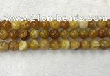 CAA1855 15.5 inches 14mm round banded agate gemstone beads