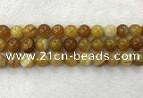 CAA1856 15.5 inches 16mm round banded agate gemstone beads